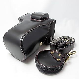 SONY α7Ⅲ (α7iii) 対応 オープナブルタイプ ジャケットケース+レンズカバー(24-70mm 28-70mm対応)+ストラップ+レンズキャップケース (ブラック)