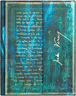 Paperblanks Verne, Twenty Thousand Leagues (Embellished Manuscripts Collection) Hardcover Journal, Lined – Ultra