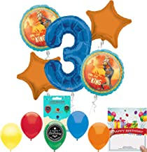 Lion King Party Supplies 3rd Birthday Balloon Decoration