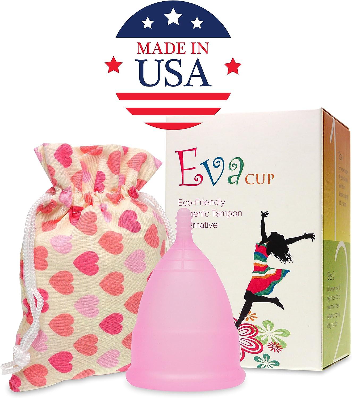 Anigan EvaCup (fabricado en Estados Unidos), taza menstrual (flor de cerezo, pequeña).