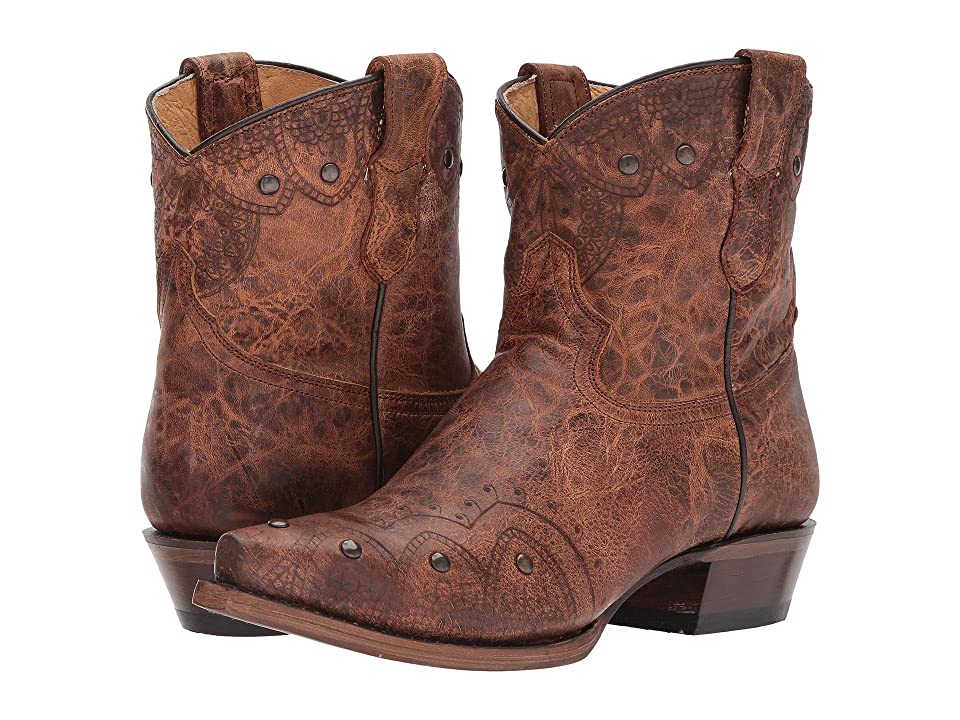 Roper Lacey Mae Shorty (Brown Vamp) Cowboy Boots