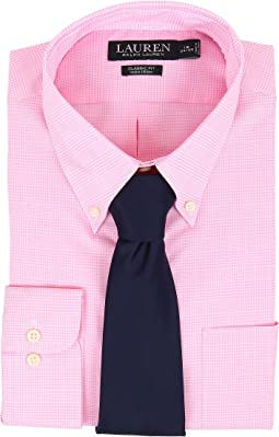 LAUREN Ralph Lauren - Ni Poplin Check Stretch Classic Button Down Pocket Shirt