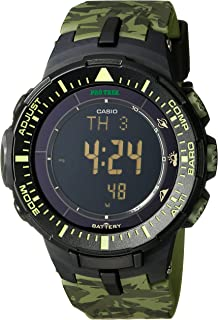Casio Mens Pro Trek PRG-300CM-3CR Solar-Power Triple-Sensor Watch