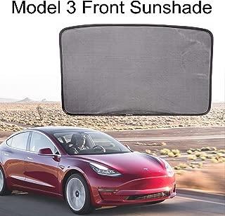 XINYOU Tesla Model 3 Front Sunshade Glass Roof Sunshade Easy Foldable Skylight Blind Shading Mesh Sunshade for Tesla M3