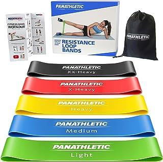 Elastici Fitness, Set di 5 Bande – 5 Livelli di Resistenza, Guida agli Esercizi, eBook in Italiano, Borsa da Trasporto – 5...