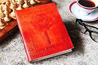 The Great Indian Bazaar Birthday Gift Ideas Leather Journal Diary Writing Notebook Personal Travel Diary Unlined Paper Sketchbook Doodle Art Book Recipe Book Organizer 8 x 6 Inches for Him & Her