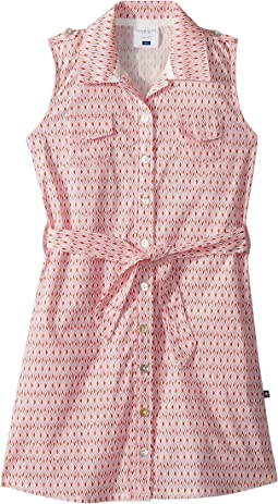 Pink Belted Shirtdress (Toddler/Little Kids/Big Kids)