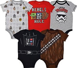 Star Wars Baby Boys 5 Pack Bodysuits
