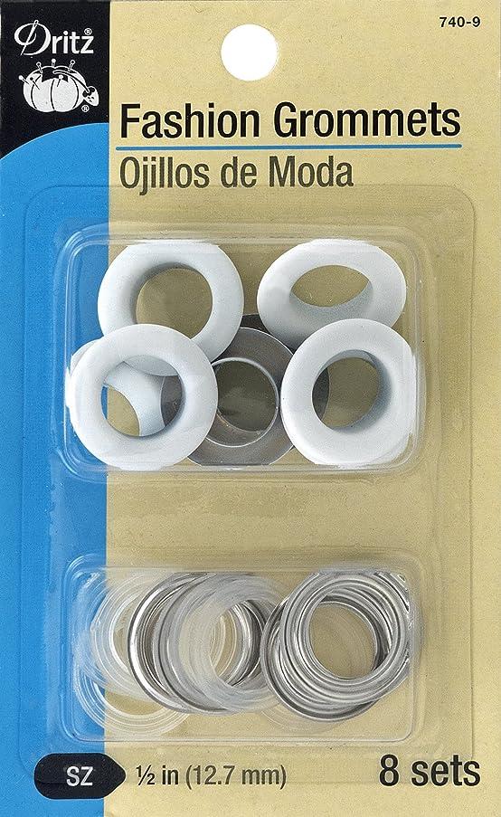 Dritz 740-9 Fashion Grommets, White, 1/2-Inch 8-Sets