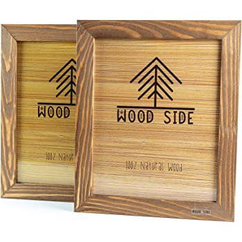 Wood Picture Frame 8x10 w//Real Glass 4 Color Options!