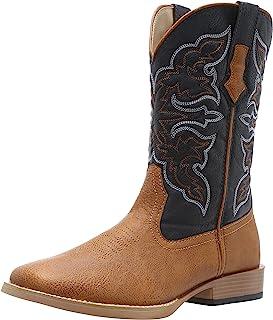 حذاء روبر للرجال بتصميم مربع اصبع القدم, (تان), 7.5 M US