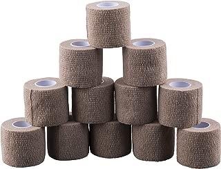 Self Adherent Cohesive Elastic Bandage Wrap 2 x 5 Yards/Beige - 12 Pack