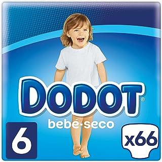 Dodot Bebé-Seco Pañales Talla 6, con Canales de Aire, 13+kg- 66 Pañales
