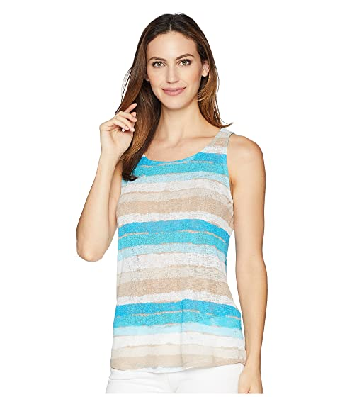 83ca735a63ded1 Tribal Printed Textured Knit Tank Top with Back Keyhole at 6pm