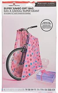 American Greetings Pink Daisy Jumbo Plastic Gift Bag