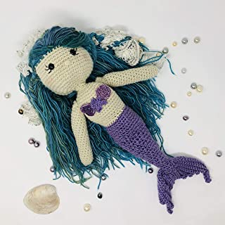 Willow the Mermaid - Large Crocheted Doll, Soft, Plush, Gift, Christmas, Stuffed Animal, Mermaid Tail, Amigurumi, Toy