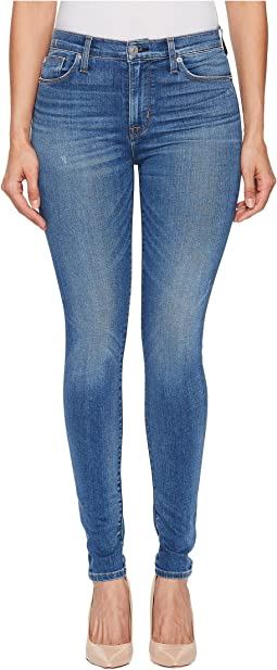Hudson - Barbara High-Waist Super Skinny Jeans in Ultralight