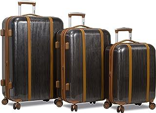 Dejuno Monroe 3-Piece Hardside Spinner TSA Combination Lock Luggage Set