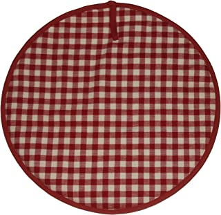 Sterck Cotton Round Checked Gingham Ziro Cook Aga Pads in Red RNDPADZRE