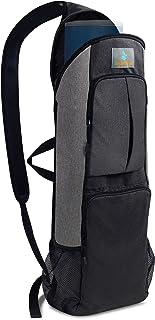 Imarana Yoga Mat Bag | Yoga Carrier Backpack with Versatile Storage Mesh and Zipper Pockets