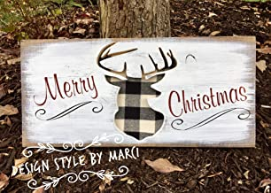 Merry Christmas Sign Christmas Signs Christmas Deer Deer Signs Holiday Signs Stocking Holder