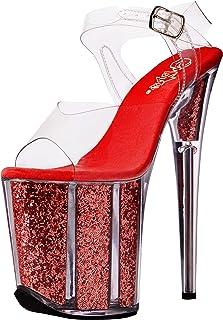 c254cd7fe21 Amazon.com  Clear Women s Wedge   Platform Sandals