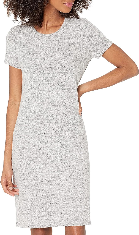 Amazon Brand - Daily Ritual Women's Cozy Knit Open Crew Neck Dress