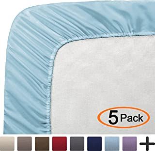 Bare Home 5 Twin Fitted Premium Bed Sheets (5-Pack) - Ultra-Soft, Hypoallergenic, Twin, 12