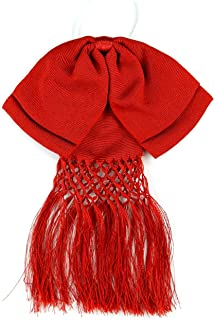 Mexican Charro Bow Tie Red elastic band Red