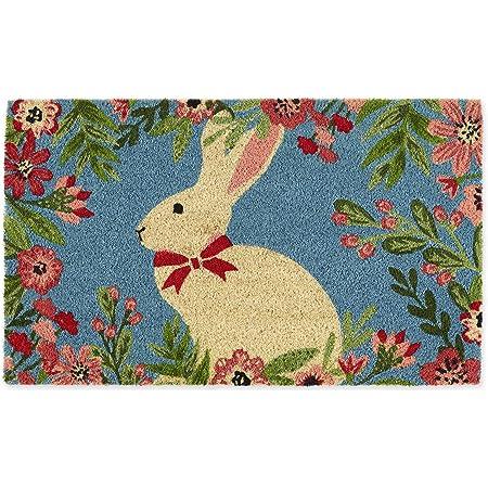 Dii Indoor Outdoor Natural Coir Fiber Spring Summer Doormat 18x30 Easter Bunny Home Kitchen