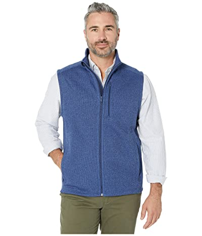 Vineyard Vines Mountain Sweater Fleece Vest (Deep Bay) Men
