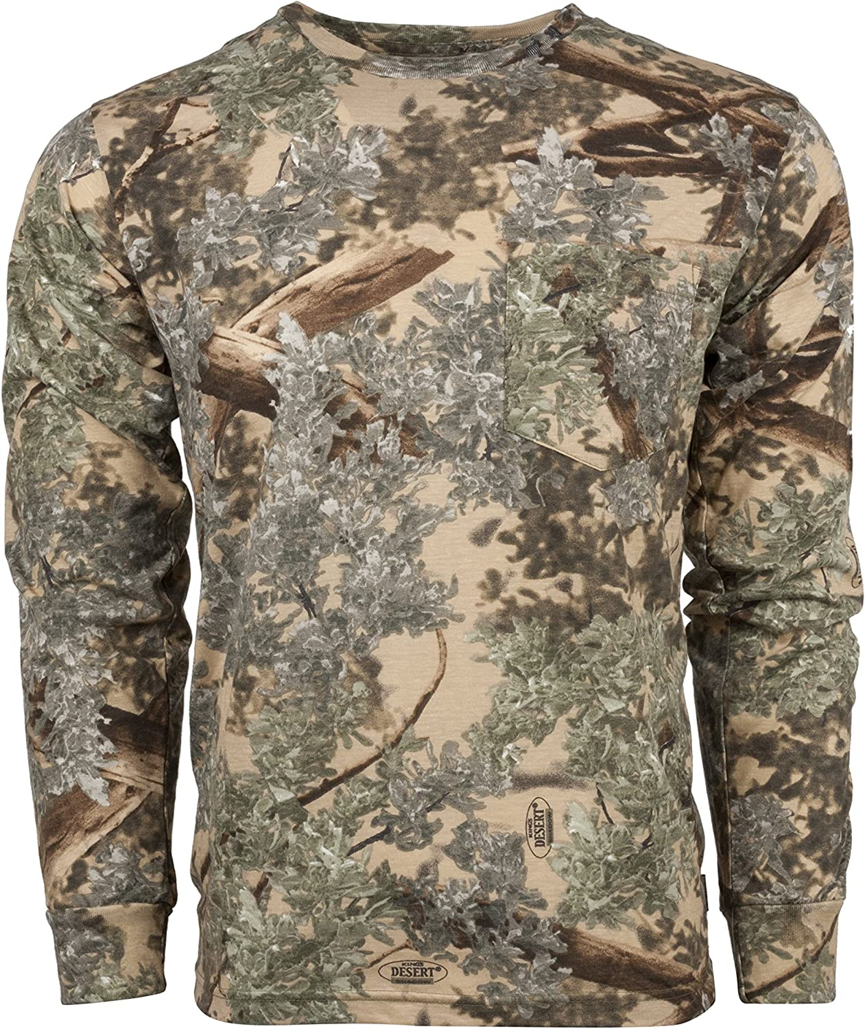 King's Camo Cotton Free shipping anywhere in the nation Translated Long Sleeve Tee Hunting