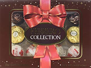 Ferrero Collection Fine Assorted Confections and Chocolates, 12 Piece Seasonal Gift Box
