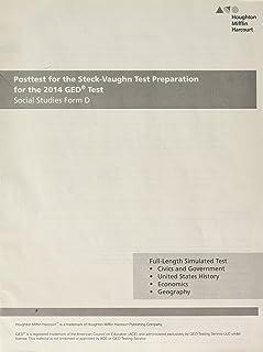 Steck Vaughn GED: Posttest for Social Studies Form D