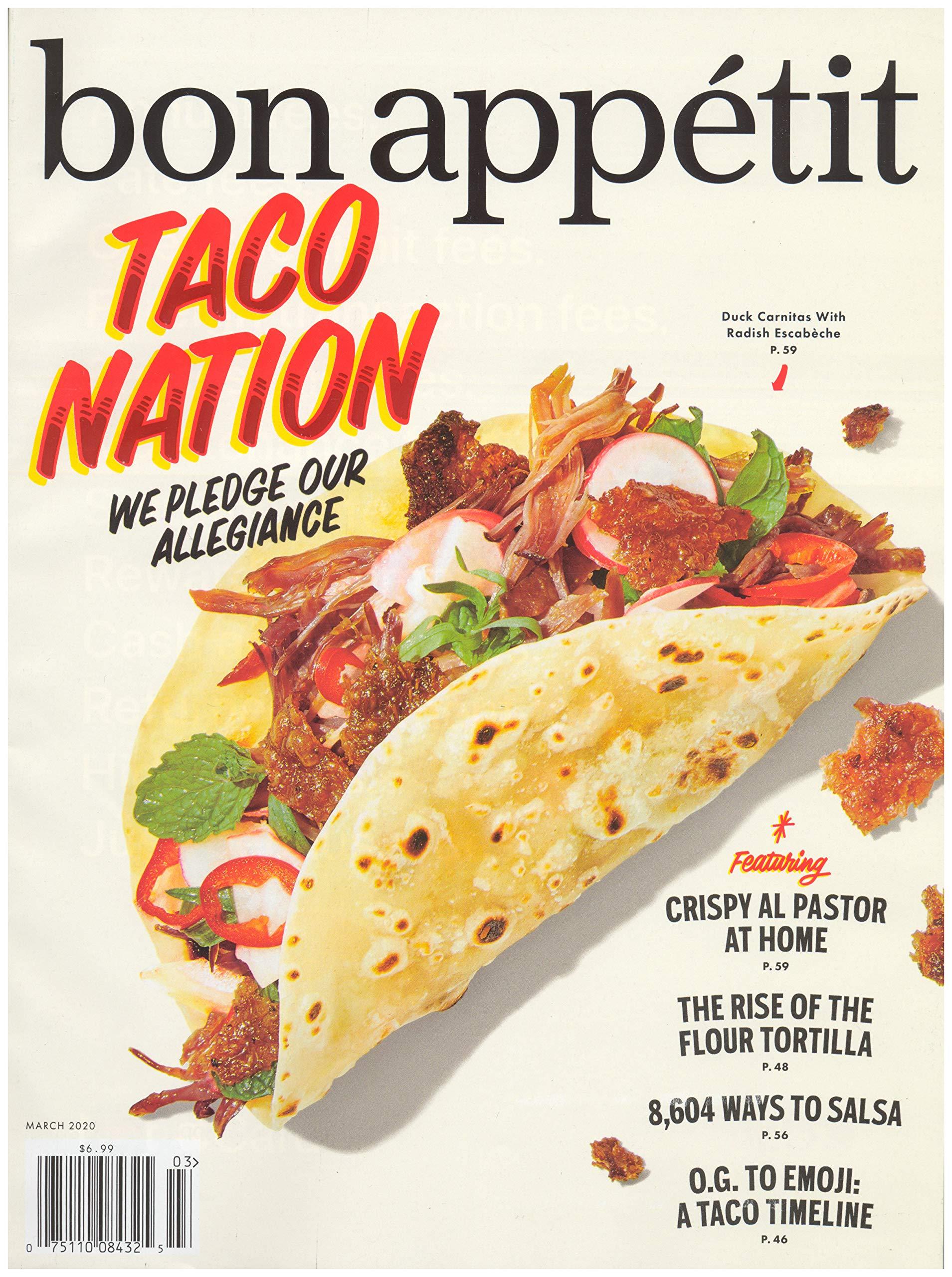 Bon Appetit Magazine (March, 2020) Taco Nation Cover
