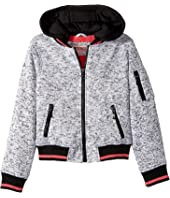 Urban Republic Kids - Melange Fleece Bomber with Woobie Lining (Little Kids/Big Kids)
