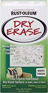 Rust-Oleum 241140 Dry Erase Brush-On Kit, 1 Pack, White