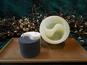 Yin Yang Candle 1 Cavity Silicone Mold 1391 Food-Soap-Candle-Resin-Flexible
