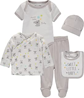 Wan-A-Beez Baby Boys' and Baby Girls' 5 Piece Take Me Home Layette Gift Set for Newborns