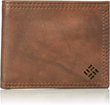 Columbia Men's Leather Extra Capacity Slimfold Wallet,Light Brown