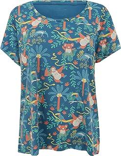 Piccalilly T-Shirt à Manches Courtes en Coton Bio imprimé forêt Tropicale