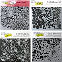 4 Crafters Workshop Mixed Media Stencils   for Arts Card Making Journaling Scrapbooking   6 inch x 6 inch Templates   Cell...