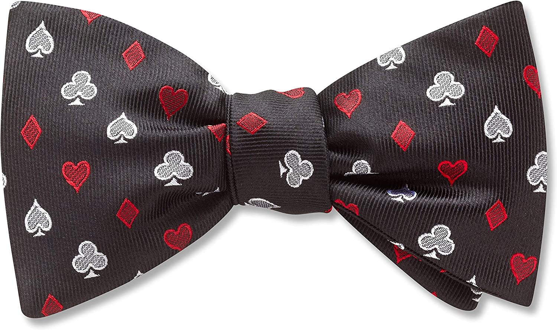 Bridgeton Black Conversational, Men's Bow Tie, Handmade in the USA