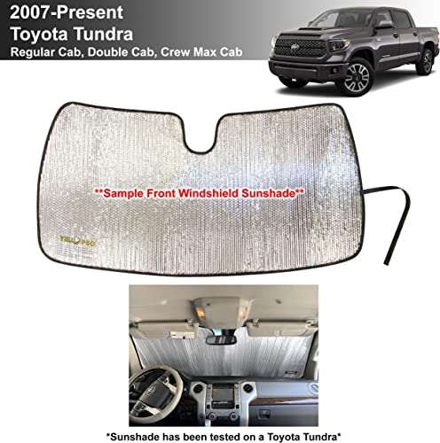 wholesale YelloPro Custom Fit Windshield Sunshade for Toyota Tundra -2007 2008 2009 2010 2011 2012 2013 2014 outlet online sale 2015 2016 2017 2018 2019 2020 2021 lowest - Limited SR5 Platinum TRD Pro Pickup, Sun Shade, Made in USA sale