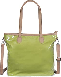 Mabel Womens Transparent Jelly Bag Handbag Top Handle Shoulder Bag - Medium (Lime Green)