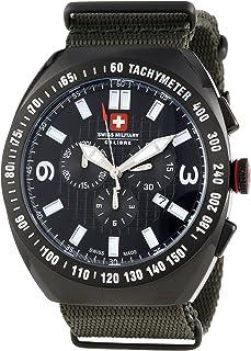 Swiss Military Calibre Men's 06-4c2-13-007t6 Commando Black IP Tachymeter Chronograph Khaki Green Watch