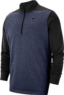 Nike Men's Mock Neck Long Sleeve Quarter-Zip Dri FIT Therma Pullover Golf Jacket