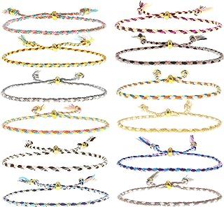 FROG SAC 12 VSCO Bracelets for Teen Girls, Boho Friendship Bracelets, Rope Bracelets for Women, VSCO Girl Wish Bracelets, ...