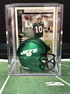 cd3eb9b89 NEW Green New York Jets NFL Helmet Shadowbox w/Chad Pennington card