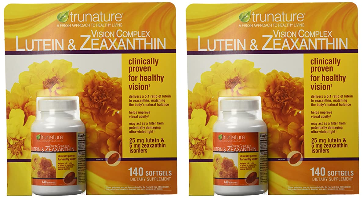 正確なホイッスルマトリックスTruNature Vision Complex with Lutein & Zeaxanthin - 2 Bottles, 140 Softgels Each by TruNature